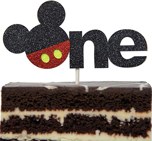 Enjoyable Amazon Com Mickey Mouse Inspired One Year Cake Topper Boys Smash Personalised Birthday Cards Petedlily Jamesorg