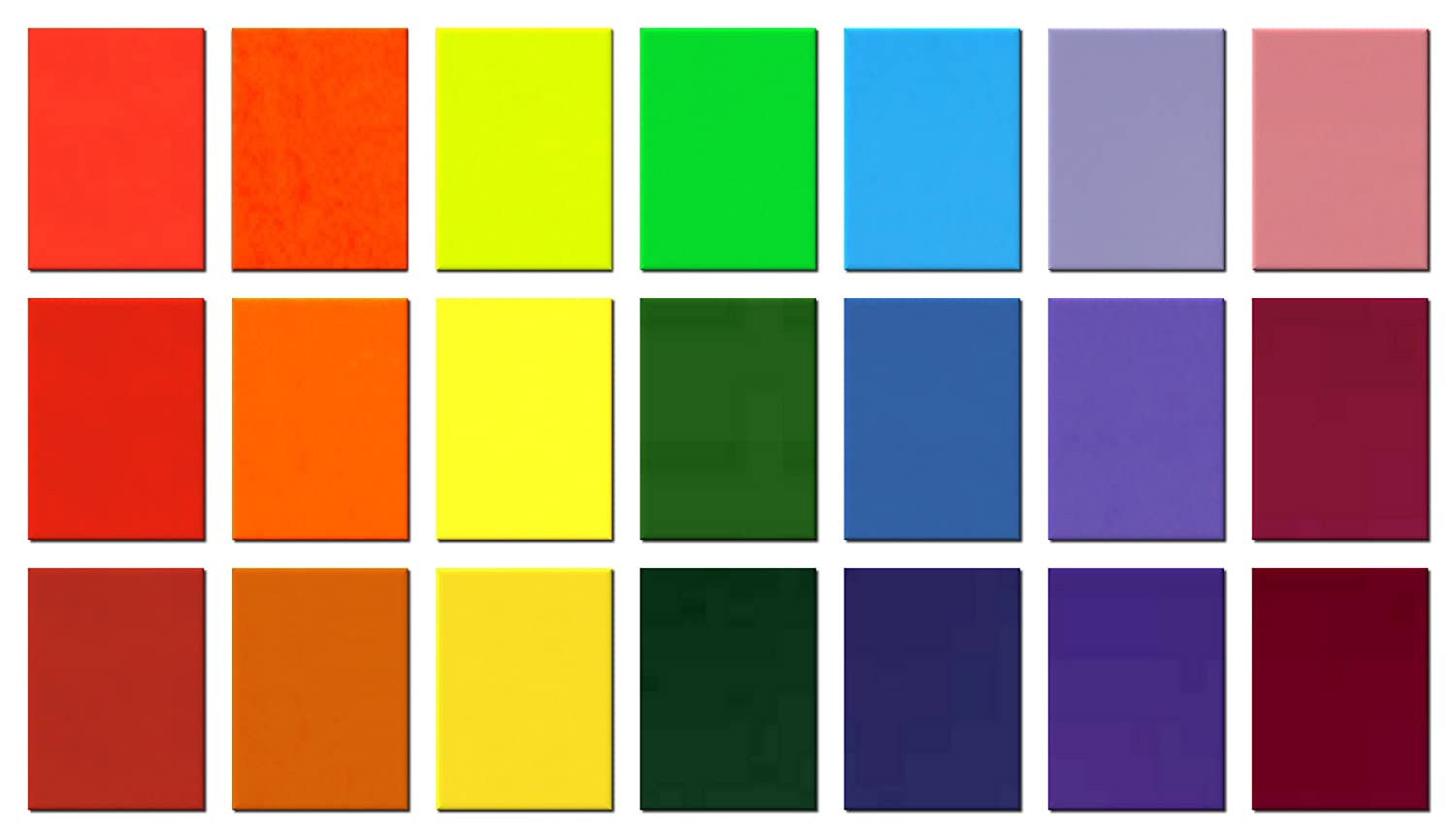 Crafts and Decorating Wax Set Rainbow 110 x 80 x 0,5 mm Pack of 20/Pieces 110/x 80/mm Wax Candles