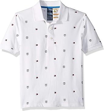 Tommy Hilfiger Adaptive Niños 7182851 Manga Corta Camisa Polo - Blanco - Large: Amazon.es: Ropa y accesorios