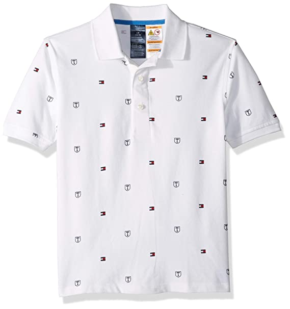 popular brand on wholesale shades of Tommy Hilfiger Boys' Adaptive Polo Shirt with Magnetic Buttons