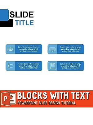 amazon co jp blocks with text powerpoint slide design tutorialを