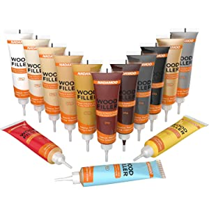 NADAMOO Floor and Furniture Repair Kit 14 Colors, Scratch Cover for Wood Floor, Table, Door, Cabinet, Wooden Veneer Touch Up Paint, Restore Any Oak, Maple, Walnut Hardwood Surface