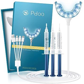 Amazon Com Teeth Whitening Kit With 16x Led Light 3 Syringes