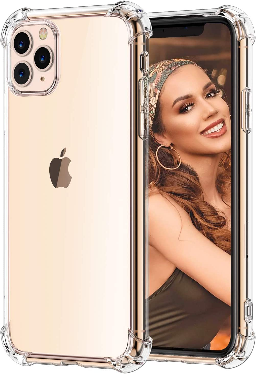 Matone for iPhone 11 Pro Case, Crystal Clear Slim Protective Cover with Reinforced Corner Bumpers, Flexible Soft TPU Cases Compatible with Apple iPhone 11 Pro (2019) 5.8-Inch
