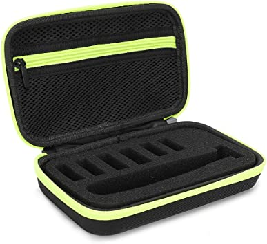 Bolsa para afeitar, caja de almacenamiento con cremallera de EVA con función impermeable a prueba de golpes, herramienta de protección de transporte para afeitadora eléctrica(#1): Amazon.es: Belleza
