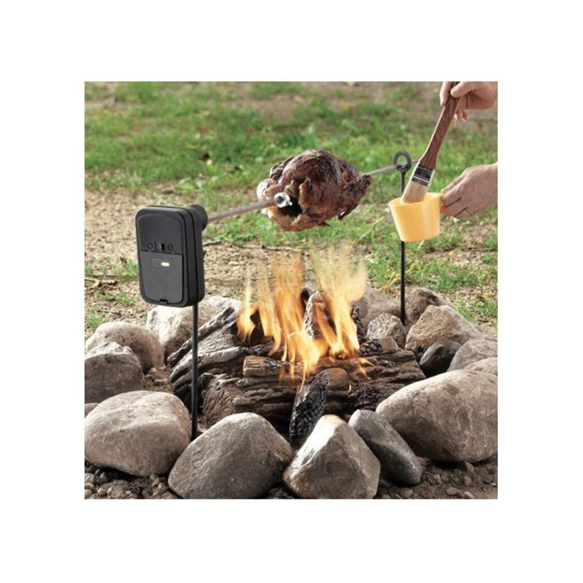Grizzly Spit Camp Fire or Fire Pit BBQ Rotisserie Callow GRIZSPIT