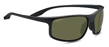 Serengeti Eyewear Erwachsene Levanzo Sonnenbrille, Shiny Black, Medium/Large
