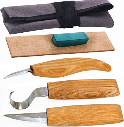 Talla de madera conjunto de cuchillos Gancho De Cuchara Cuchillos Chip Herramientas De Tallado En Madera Tallado Kit