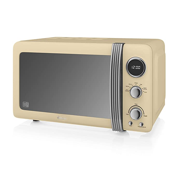 Amazon.com: Swan Retro Digital microondas, 20 litros, 800 W ...
