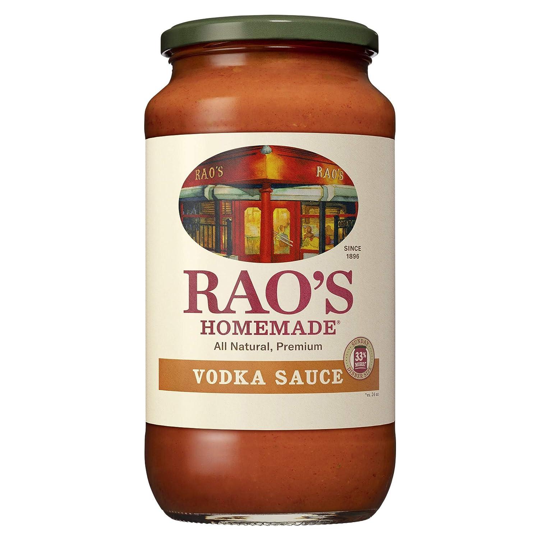 Rao's Homemade Vodka Sauce 32 oz Creamy Tomato Sauce Pasta Sauce Carb Conscious, Keto Friendly All Natural, Premium Quality With Parmigiano Reggiano and Pecorino Romano Cheeses & Vodka