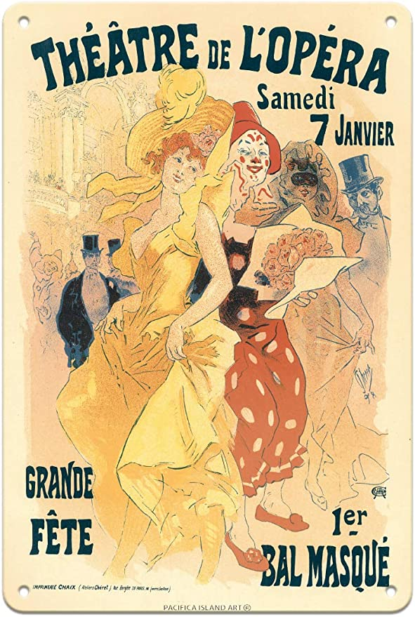 AP142 Vintage French Carnival Theatre Opera Advertisement Framed Poster A3//A4