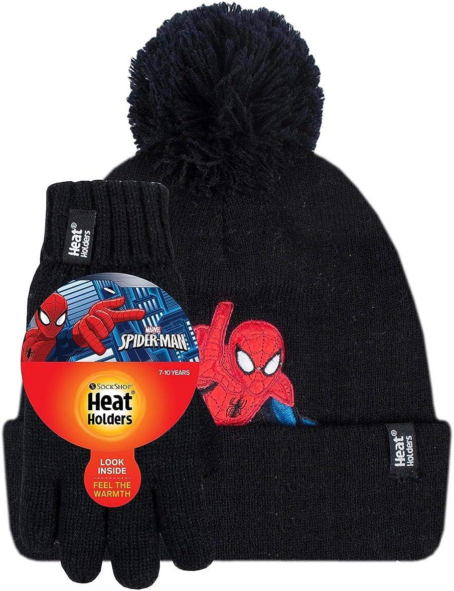 Spiderman HEAT HOLDERS Kinder Jungen M/ädchen Thermo-Hut und Handschuhe passendes Set Harry Potter Star Was