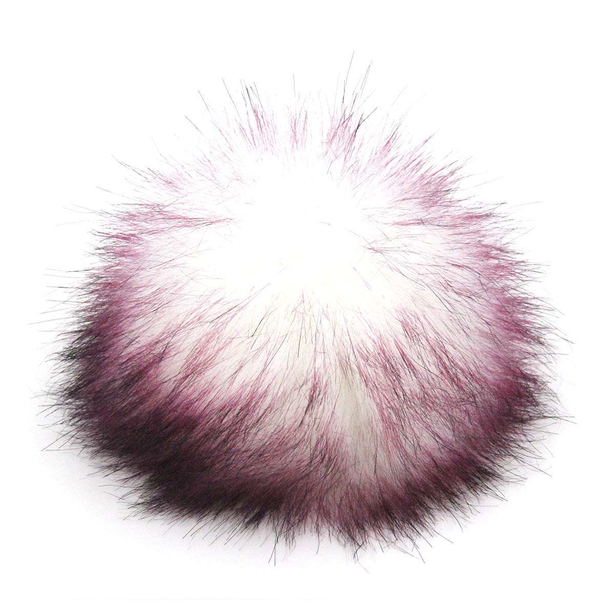 Furling Pompoms Faux Fox Fur Fluffy Removable Pom Poms Ball for Knitting Hats Mixed Colors 12pcs 4.7 Inches
