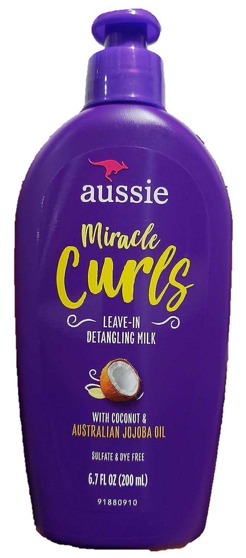 Aussie Leave-In Detangling Milk Miracle Curls 6.7 Ounce (200ml) (2 Pack)