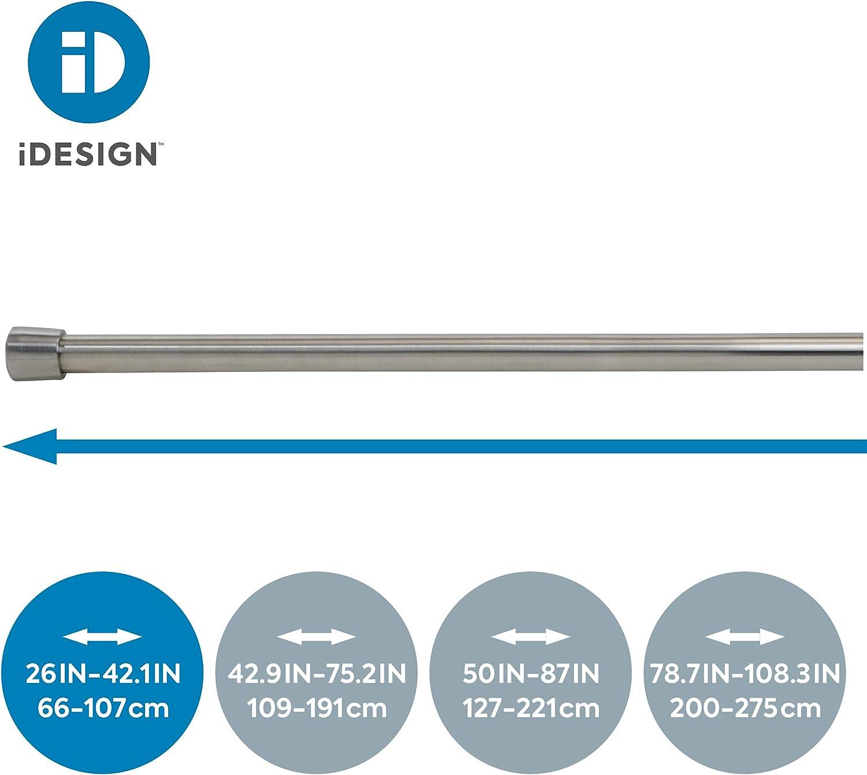 DPT Ausziehbare Duschvorhangstange 62 cm Duschvorhangstange mattes Silber moderne Teleskop-Duschvorhangstange f/ür Bad und Dusche 35 cm