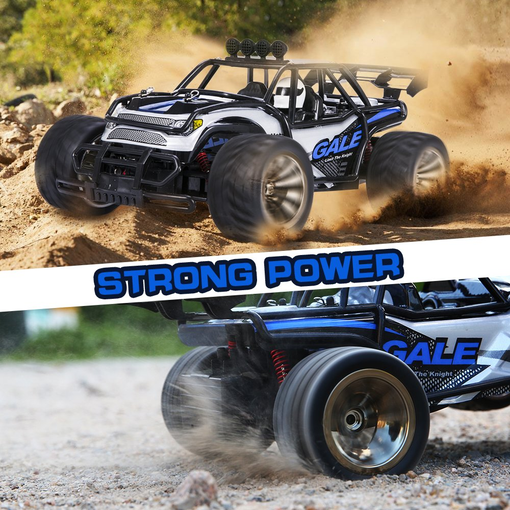 Distianert 1:16 Scale Electric RC Car Off Road Vehicle 2.4GHz Radio Remote Control Car 2W High Speed Racing Monster Truck by Distianert (Image #3)