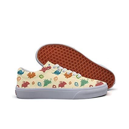 eae78f4a8d9b2 Amazon.com: Dino Baby Cute Women's Casual Shoes Sneakers Canvas Cool ...