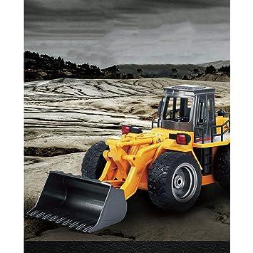 YYD Fernsteuerungsladenauto 6 Kanal elektrischer Vier Radlader Fernsteuerungsbagger Bulldozer Bagger Kinder Spielzeug Engineering Fahrzeug