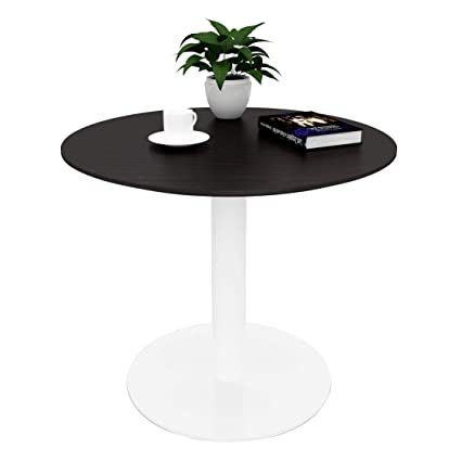 Genial Amazon.com   Sunon D27.5u0027u0027 X H23.6u0027u0027 Round Cafe Table With White Pedestal  Base Small Round Table For Pub/Conference/Living Room (Dark Oak)   Tables