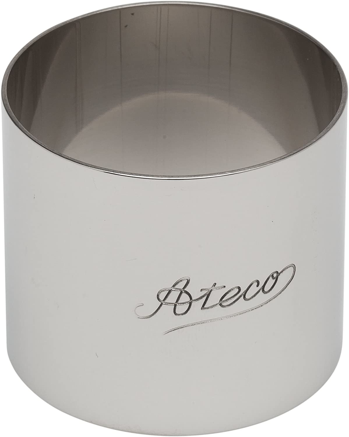 Ateco Round Stainless Steel Form, 2 by 1.75-Inches High
