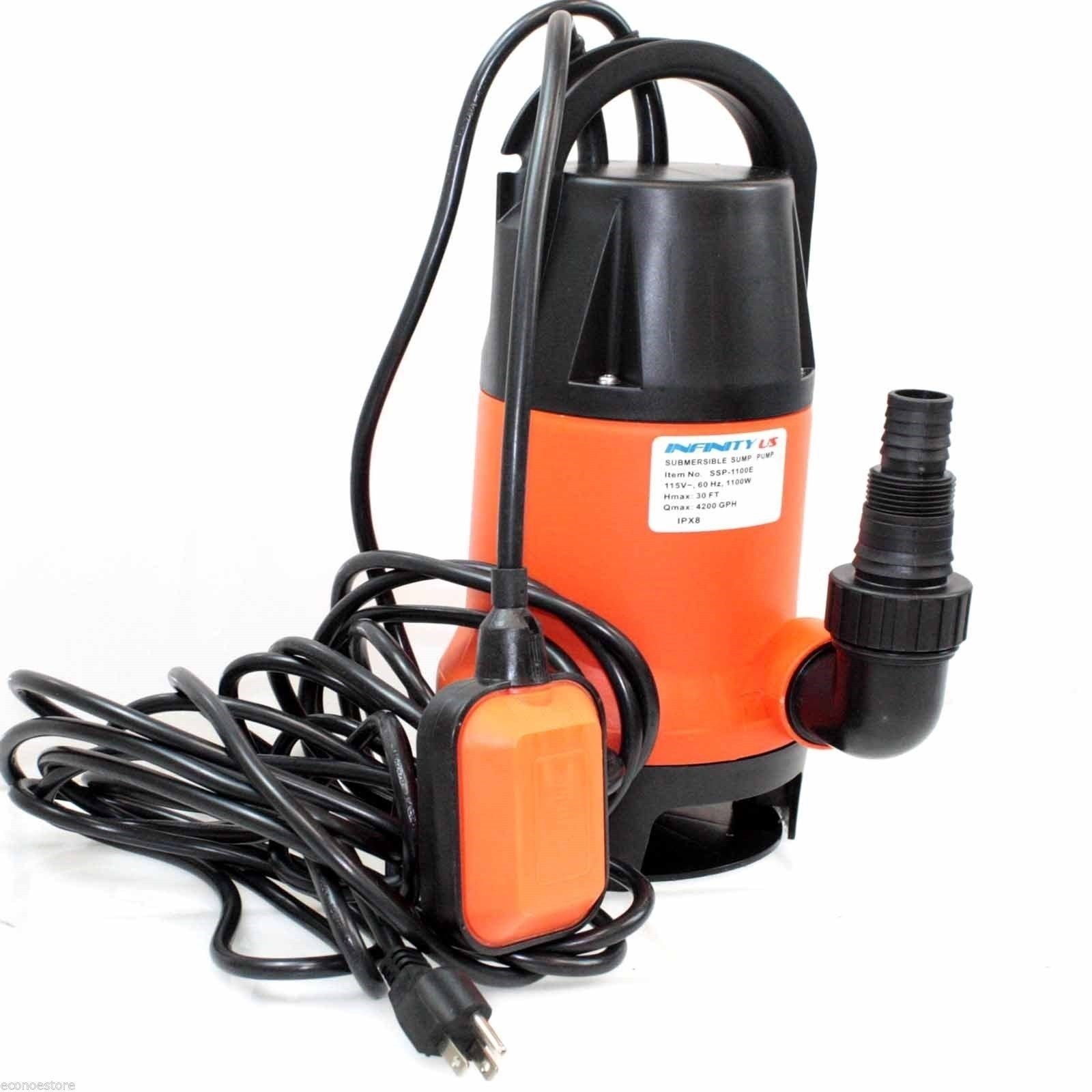 UL 1.5HP 1100W Submersible Pool Pond Drain Sub Water Pump 4200GPH By Allgoodsdelight365 by allgoodsdelight365
