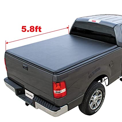 c29f06753db Amazon.com  oEdRo TRI-FOLD Truck Bed Tonneau Cover Compatible with 2009-2019  Dodge Ram 1500 Without Ram Box (2019 Only Fits Classic)