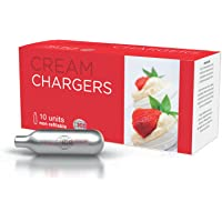 Impeccable Culinary Objects ICON810  Cream Chargers, Silver, 10-Piece- Packaging may vary