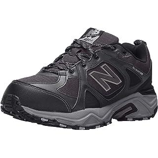 New Balance Men's 481V3 Water Resistant Cushioning Trail Running Shoe, Black/Grey, 15 4E US