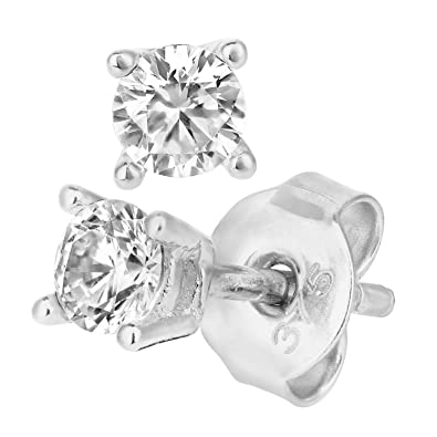 Citerna 9 ct Yellow Gold Stud Earrings with 3.5 mm Cz Stone 4kVGBjOox