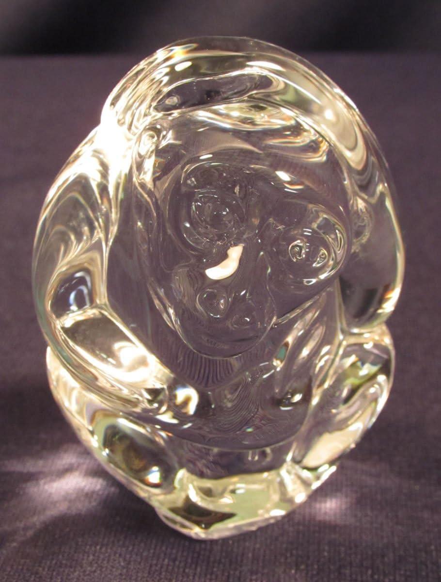 Steuben Glass Monkey Hand Cooler