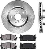 Max Brakes Front Premium Brake Kit OE Series Rotors + Ceramic Pads Fits: 2011 11 Subaru Impreza w//2.5i//2.5i Premium//Outback Sport KT112941
