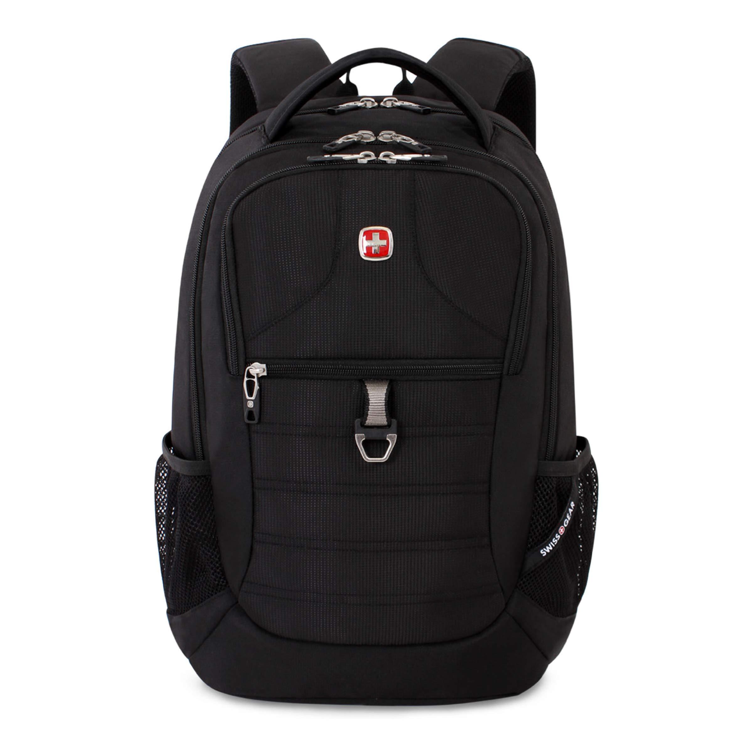 SWISSGEAR Large, Padded, ScanSmart 15-inch Laptop Backpack | TSA-Friendly Carry-on | Travel, Work, School | Men's and Women's - Black by Swiss Gear (Image #5)