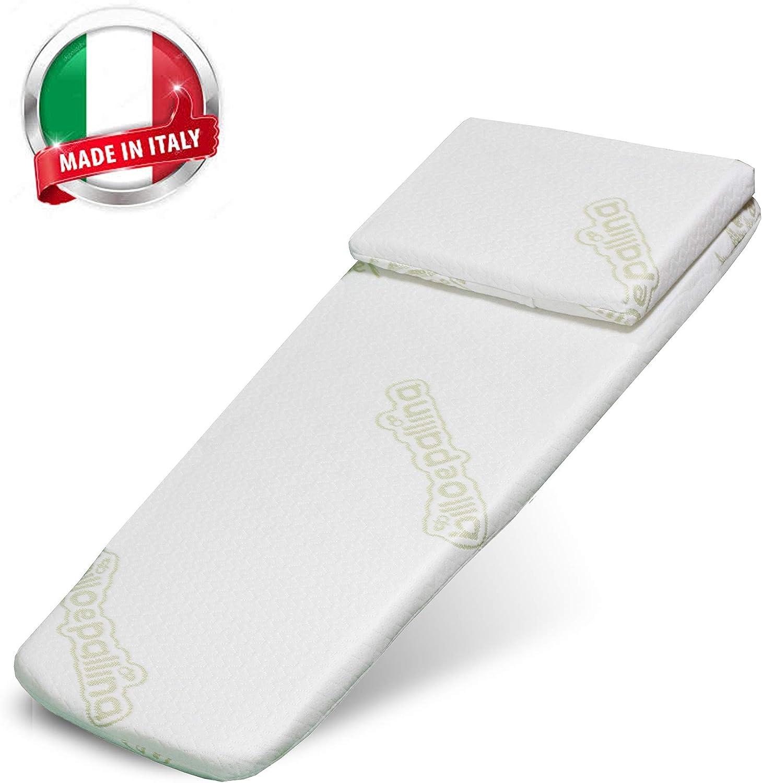 72 x 32//27 cm Aloe Matelas pour poussette//berceau//berceau//berceau//berceau universel anti-/étouffement fabriqu/é en Italie