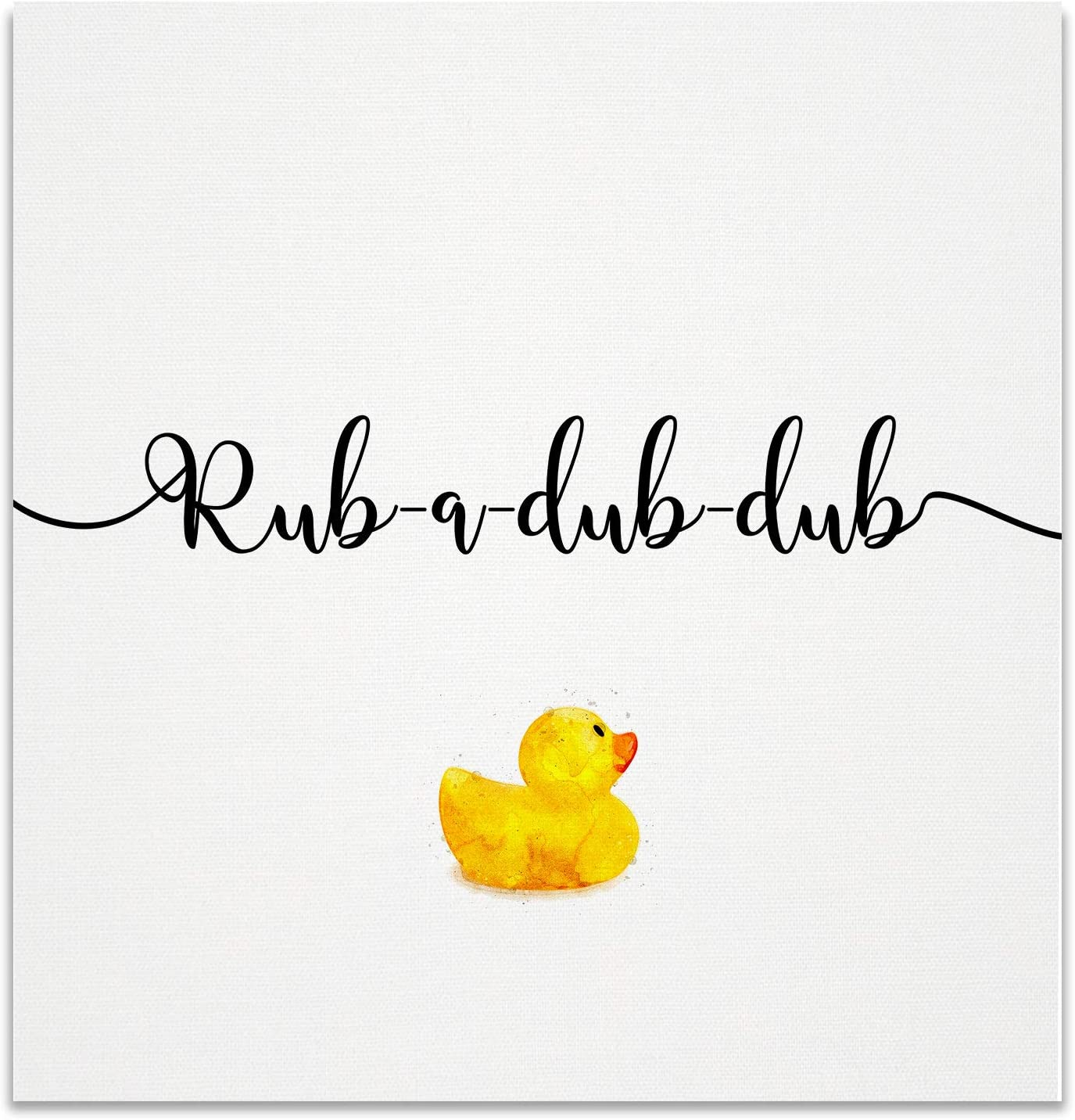Renditions Gallery Rub Dub Rubber Ducky Bathroom Décor Gallery Wrapped Canvas Wall Art, 16x16