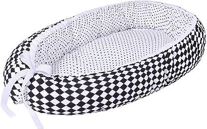100 /% coton certificat Oeko-Tex couffin de voyage portable coussin pour b/éb/é cocon /à usage multiple LULANDO Baby-Nest cocon pour b/éb/é//nourrisson dimensions: 80cm x 45cm x 15cm anti-allergique