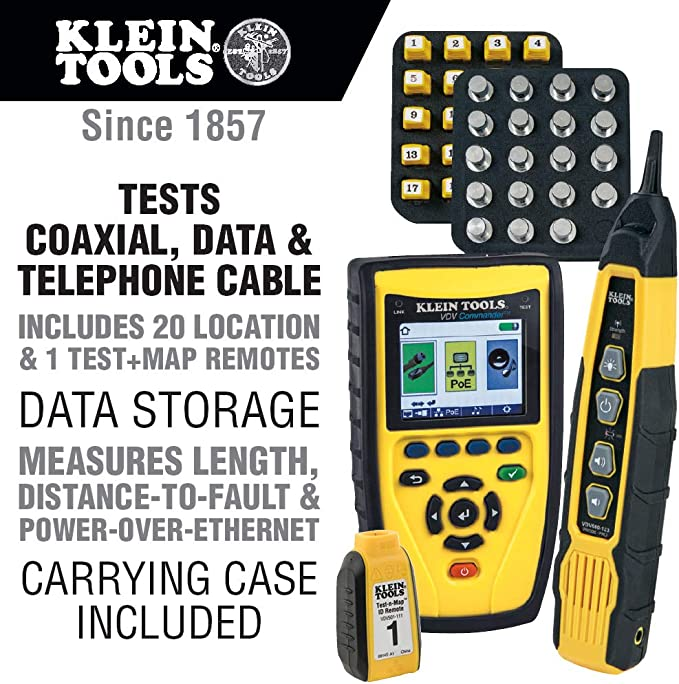 Klein Tools Vdv501829 Vdv Commander Tester With Test N Map Remote Kit Vdv501 829 Amazon Co Uk Diy Tools