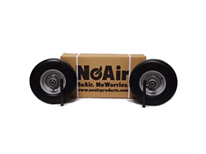 Amazon com : NoAir (2) Ferris Flat Free Wheel Assemblies