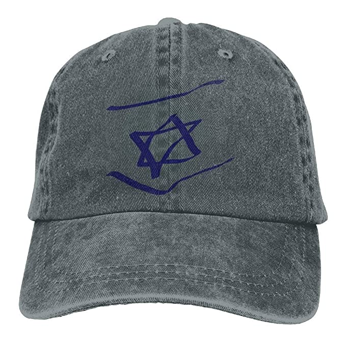 7302426738b1 Abstract Israel Flag Denim Hat Adjustable Women's Flag Baseball Cap ...