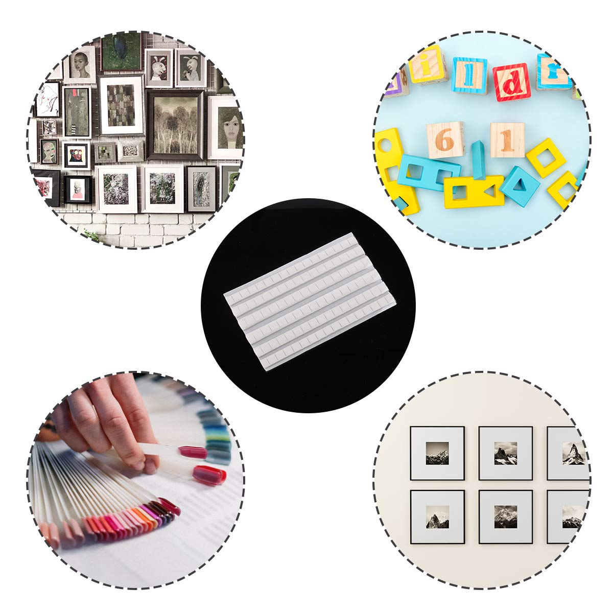 Multipurpose Adhesive Mounting Tacky Putty for Hanging Pictures Poster and Museum Art Photography 408 Pieces Removable Adhesive Poster Putty Non-Toxic Mounting Putty Reusable Wall Safe Tack Putty