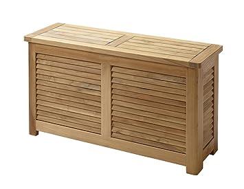 Maison/baignoire Banc de rangement en bois pour salle de ...