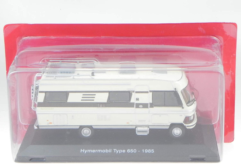 Hymermobil 650 Mercedes 1985 Camper Wohnmobil Modellauto Hachette 1:43