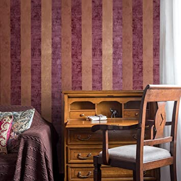 Orange Rust Red Non Woven Paste the Wall Feature Wallpaper
