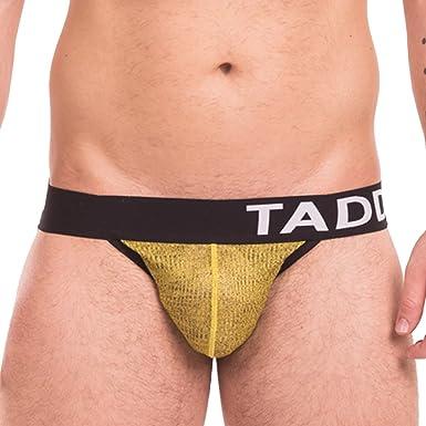 fd97bfe9f227 Taddlee Sexy Men Jocks Underwear Boxer Brief Bikini Jockstraps Backless  Buttocks (M) Yellow