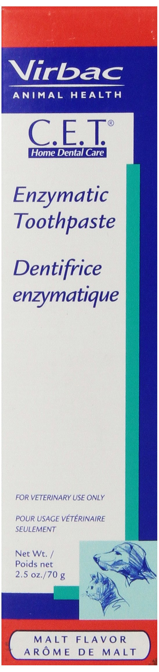 Virbac C.E.T. Enzymatic Toothpaste, Malt Flavor, 2.5 oz by Virbac