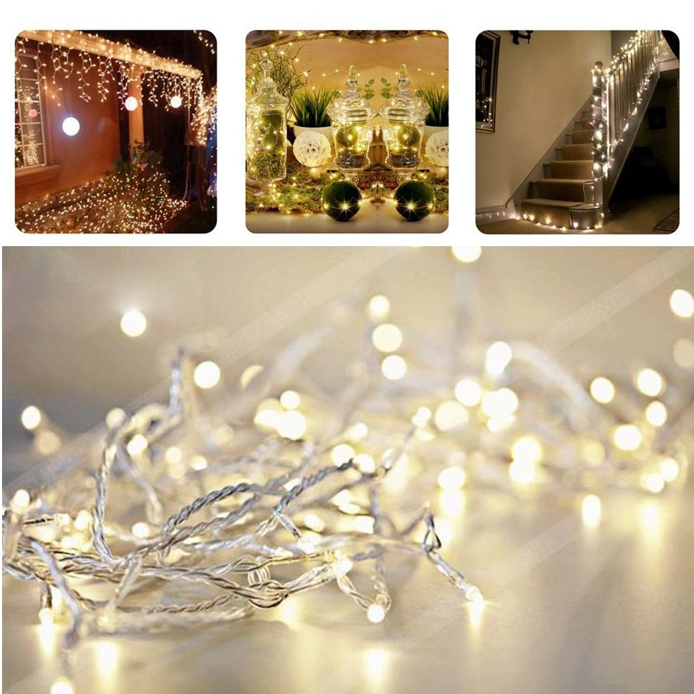 EShing String Lights, 100 LEDs 33ft Fairy Lights LED Backdrop Lights ...