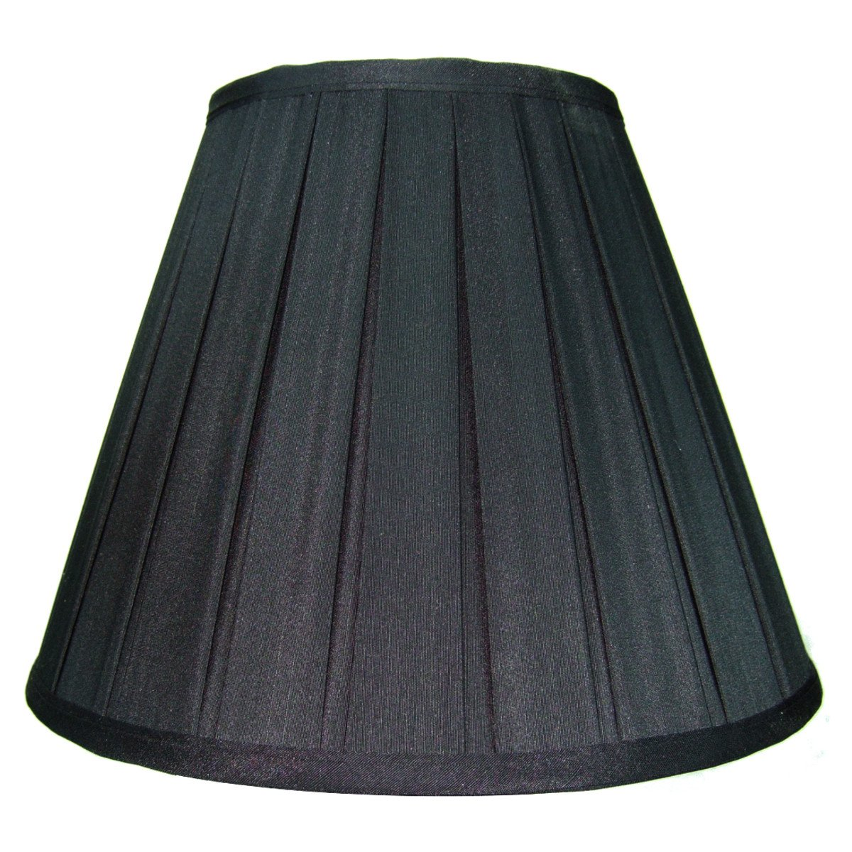 6x12x9 Black Empire Lampshade with Gold Liner By Home Concept - Perfect for small table lamps, desk lamps, and accent lights -Medium, Black