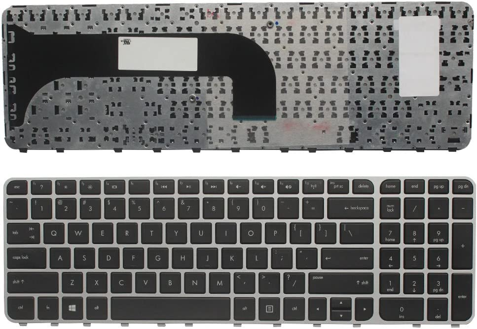Sliver Frame New Laptop Replacement Keyboard for HP Pavilion M6-1000 M6-1002XX M6-1200 M6-1300 690274-B31 696914-B31 699853-251 698402-251 US Layout