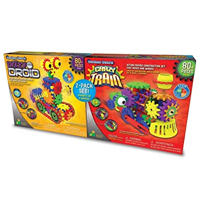 Techno Gears/ 2 Pack Set/ Dizzy Droid + Crazy Train, Multicolor, Large: Toys & Games