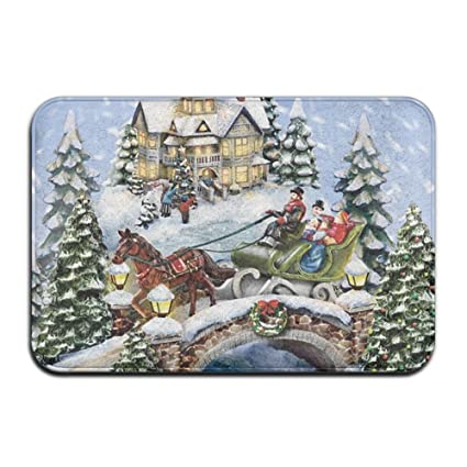 hgdsafiga bells christmas musical door mats outdoor mats