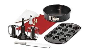 Krups XF5560Prep & Cook Set–Black/White/Red
